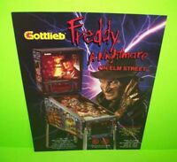 Gottlieb FREDDY A NIGHTMARE ON ELM STREET Pinball Machine Flyer Halloween Horror