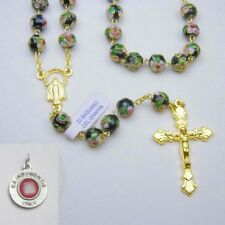 Bassano Ceramic Rosary - Black - Bonus St Anthony Relic Medal