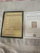 PHIL RIZZUTTO SIGNED PROCLAMATION, CAME DIRECT FROM HIS WIFE CORA, SIGNED LOA