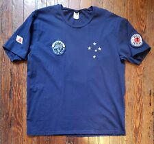RAUL SEIXAS T Shirt Blue TORCIDA COMANDO METAL Large Embroidered Patches HTF!