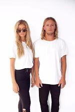 Men's Plain 100% Cotton Blank T shirt Basic Tee White Black sizes XS XL New Bulk