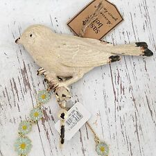 Vintage cream bird hook shabby french boudoir chic manteau stockage home decor