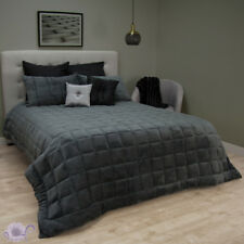 Ardor Charcoal Faux Mink Comforter Set | 300gsm Poly Fill | fits Queen / King