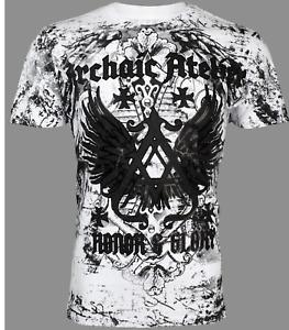 Archaic By Affliction Men's T-Shirt ACHILLES White Wings Biker S-3XL
