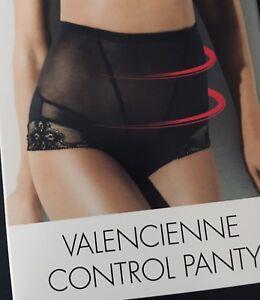 Wolford VALENCIENNE Control Panty 38  schwarz/black NEU formend & sexy