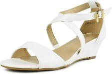 Dream Pairs Women's Shoes Jones PEEP Toe Casual Ankle Jones-white PU Size 9.0