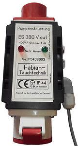 ES380 Pumpensteuerung ,Niveausteuerung ,Entwässerung  m. Sensorenanschlußbox 16A