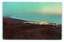 Postcard CA Pismo Beach Airview of Town Looking South to Point Sal Vintage G03