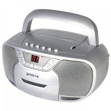 Groove Boombox Portable CD & Cassette Player With FM Radio