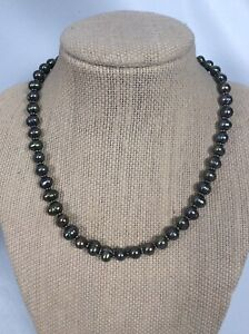 Stephen Dweck sterling Silver 925 pearl Toggle  necklace