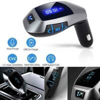 X5 Bluetooth FM Transmitter Wireless Radio Adapter USB Ladegerät Auto MP3 P L6R2