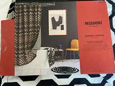 Missoni for Target Reversible B&W Chevron Fabric Shower Curtain