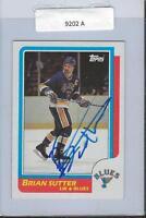 Brian Sutter 1986 Topps Autograph #72 Blues
