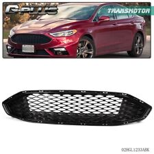 For Ford Fusion 2017 2018 Honeycomb Mesh Front Radiator Hood Upper Grille Black