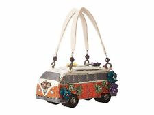 Mary Frances Get On The Bus VW Van Auto Car Hand Beaded Bejeweled Purse Handbag