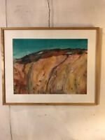 """Vintage Painting Watercolor By Emma L.Martin Fossil Wall.31""""X25""""12pix.MAKE OFFER"""
