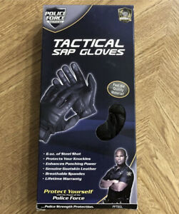 NEW Police Force Sap Gloves Tactical Leather Security Glove Large L