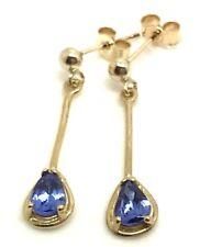 9ct gold tanzanite longer pear drop earrings, new, actual ones, UK seller 🇬🇧