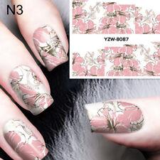 Nail Art Water Decal Manicure Transfer Sticker Tips Pretty Flower Design  O