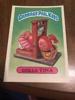 1986 GARBAGE PAIL KIDS 1st SERIES GIANT CARD #37 GUILLO TINA VINTAGE USA RARE
