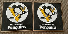 2 VINTAGE PITTSBURGH PENGUINS 3 1/2 INCH STICKERS,GREAT CONDITION