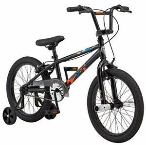 Mongoose Switch BMX Bike for Kids 18-Inch Wheels Includes Removable Training ...