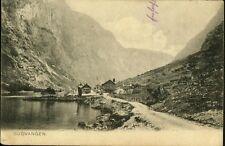 Alte AK,GUDVANGEN/Brevkort fra Norge. gel.1906