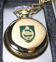 THE ROYAL TANK REGIMENT BADGE POCKET WATCH AND CHAIN ARMY MILITARY GIFT BOX