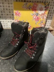 JOULES ASHWOOD LEATHER HIKER BOOTS SIZE 6