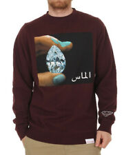 Diamond Supply Co Arabic Shining Crewneck in Burgundy Large L Sweatshirt