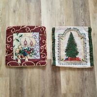 Set of 2 Tapestry Holiday Pillow Cases