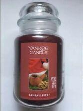 Yankee Candle SANTAS PIPE 22 oz. LARGE JAR HTF HOLIDAY SCENT