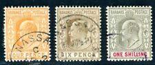BAHAMAS 1902 25-27 gestempelt gute WERTE 86€(D9806