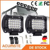 """2X 72W LED Arbeitsscheinwerfer 4"""" Offroad Scheinwerfer Traktor Bagger SUV 12-24V"""