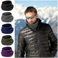 Mens Womens Ladies Snood Chunky Knit Knitted Winter Soft Neck Warmer Ski Scarf