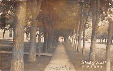 Ada MN RPPC Narniac Shady Sidewalk on Dirt Residential Street 1908 RPPC