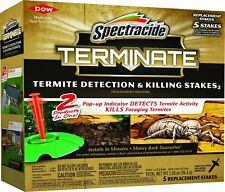 5 Count Terminate Termite Detection & Killing Stakes2 Pest Insect Trap Bait