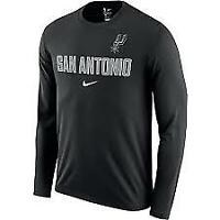 Nike Mens NBA San Antionio Spurs Long Sleeve Facility T-Shirt Dri  XXL 2XL NEW