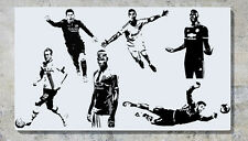 Footballers (Small) Messi Ronaldo Kane Sanchez Pogba AND MORE Wall Decal Sticker