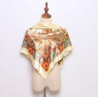 New Printed Women Paisley Fashion Silk Long Soft Satin Scarf Wrap Shawl Stole