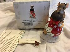 """Charming Tails """"Good Things Come In Small Packages"""" Dean Griff Christmas W/ Mini"""