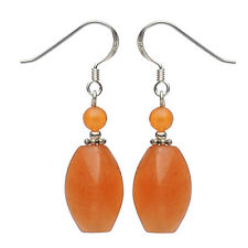Ohrringe Ohrhänger aus Aventurin, mit Ohrhaken aus 925 Silber, rot orange, Damen