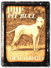 Pit Bull Metal sign great gift Mancave vintage antique style wall decor 470