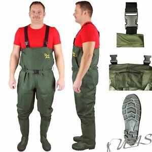 Delta Fishing Nylon Pvc Wathose Gr.40-47 Teichhose Angelhose PVC Stiefel Kva