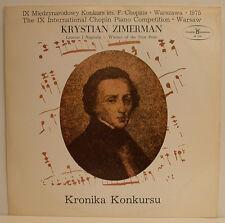 "Krystian Zimerman Winner of the IX International Chopin compétition 12 "" LP E488"