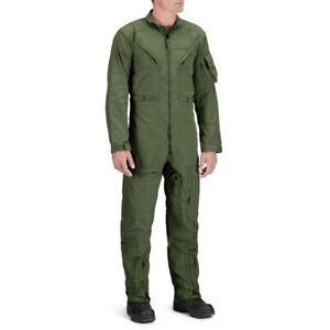 Nomex Flight Suit SIZE 34 Reg, Mil spec (CWU-27/P, OD Green), Used