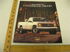 1996 96 Chevrolet Chevy Commercial Trucks Pickups Sales Brochure Catalog 38 Pgs