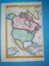 1855 RARE ORIGINAL MAP UNITED STATES TEXAS CALIFORNIA FLORIDA MEXICO CANADA