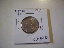 ERROR US COIN JEFFERSON NICKEL 1990 D CLIPPED