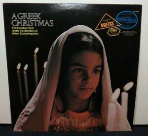 THE EUSEBIA CHOIR A GREEK CHRISTMAS (NM) SM-10489 VINYL LP RECORD